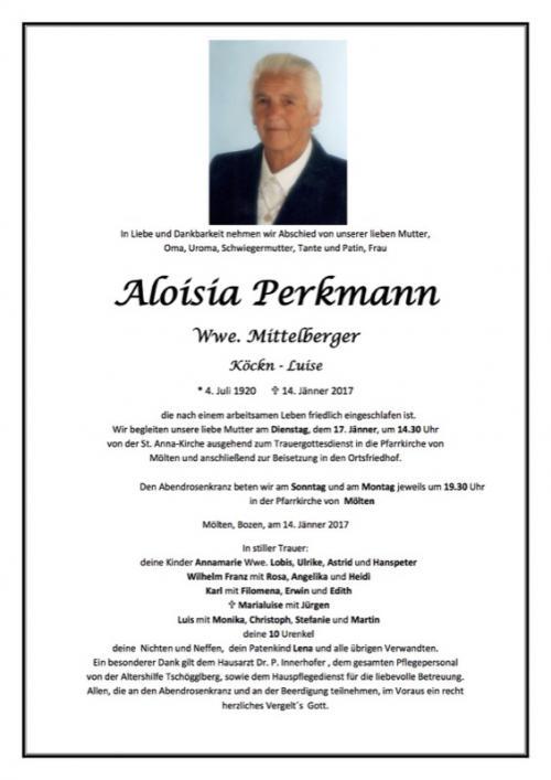 Aloisia Perkmann