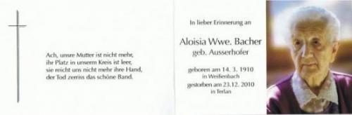 Aloisia Bacher