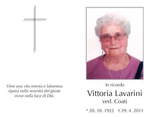 Vittoria Lavarini ved. Coati