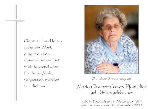 Marta Elisabetta Pfanzelter