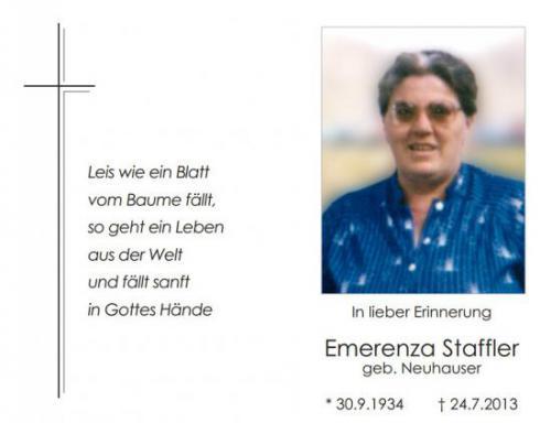 Emerenza Staffler