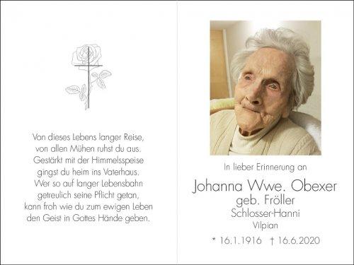 Johanna Obexer, geb Fröller