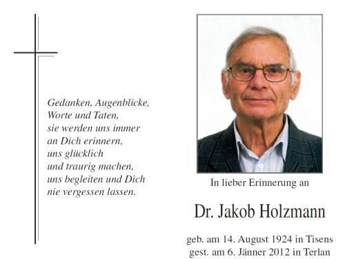 Jakob Holzmann