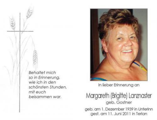 Margareth (Brigitte) Lanznaster