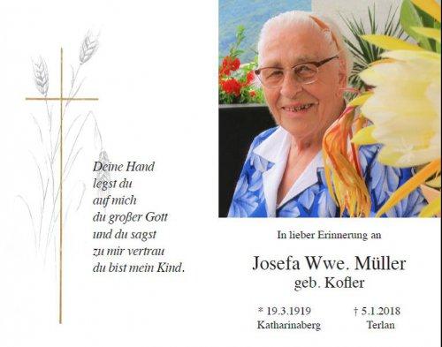 Josefine Müller geb. Kofler