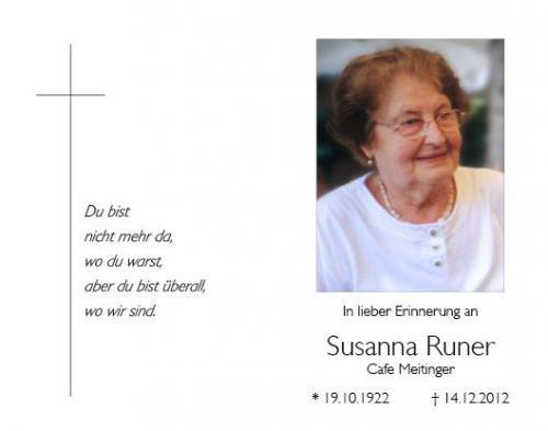 Susanna Runer