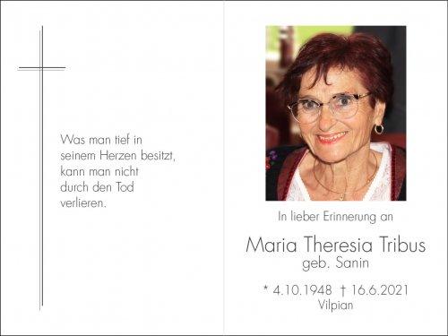 Maria Theresia Tribus geb. Sanin