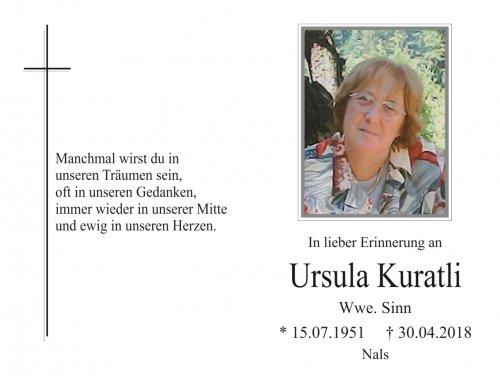 Ursula Sinn, geb. Kuratli
