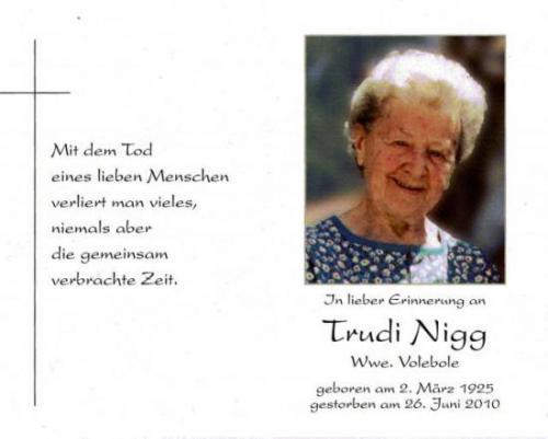 Trudi Nigg